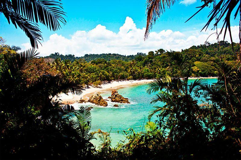As expendidas praias da Costa Rica
