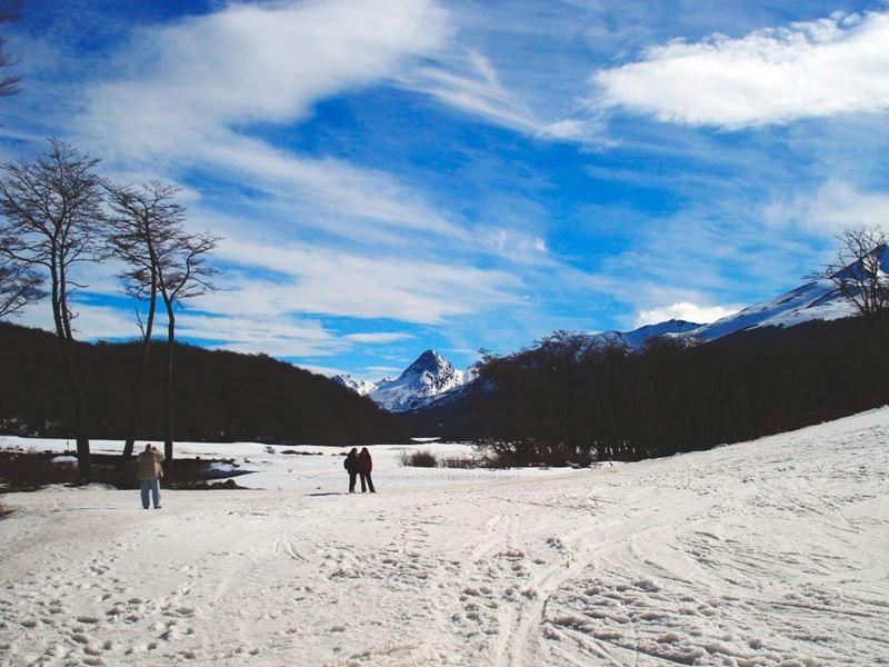 Esquiando na Argentina Cerro Castor