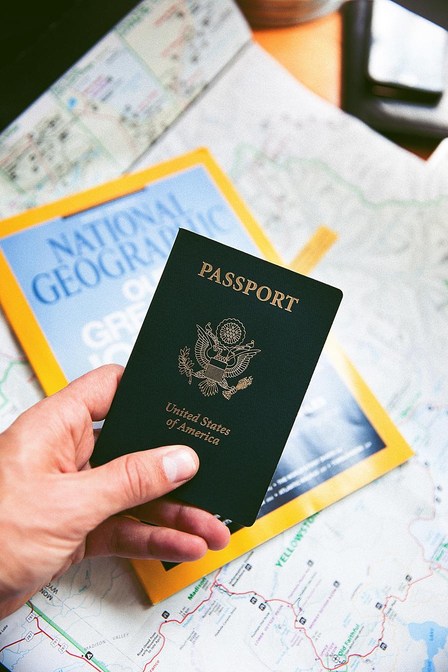 passaporte para viajar