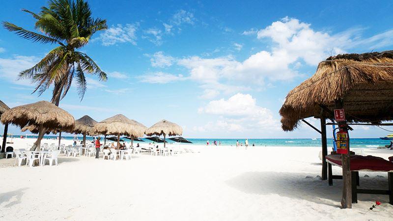 Playa del Carmen no incrível Caribe Mexicano