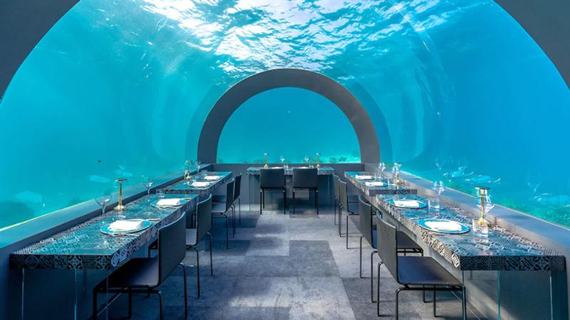 H2O - Restaurante Subaquático em Maldivas