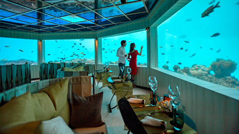 M6m - Restaurante Subaquático em Maldivas