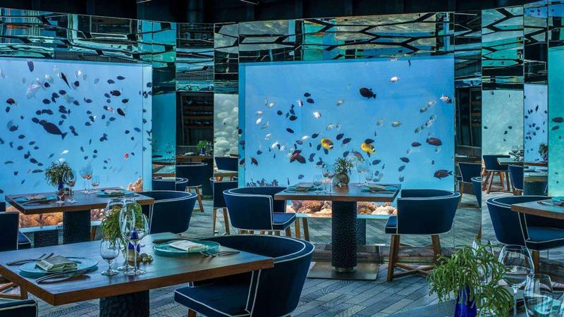 SEA - Restaurante Subaquático em Maldivas