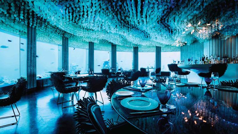 SUBSIX - Restaurante Subaquático em Maldivas