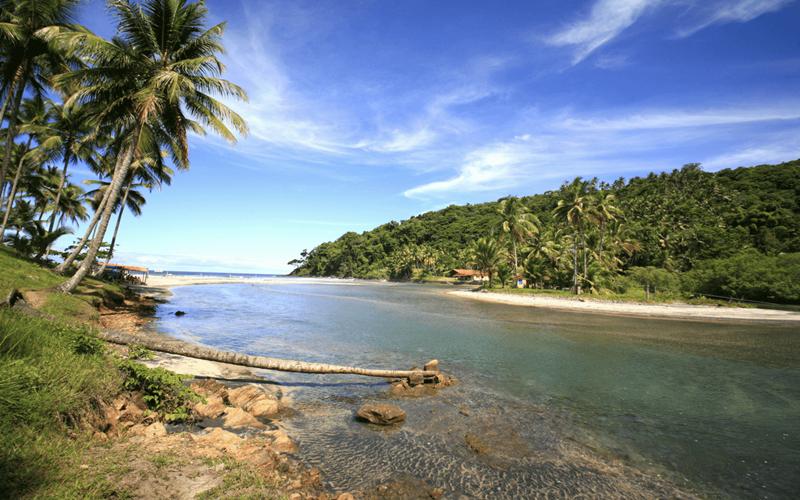 Itacaré, Bahia, um dos lugares onde a Tocha Olímpica passou