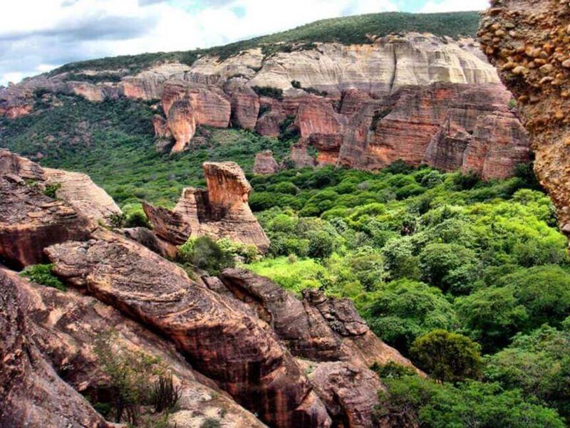 Parque Nacional da Serra da Capivara, um dos Patrimônios  Culturais da Unesco