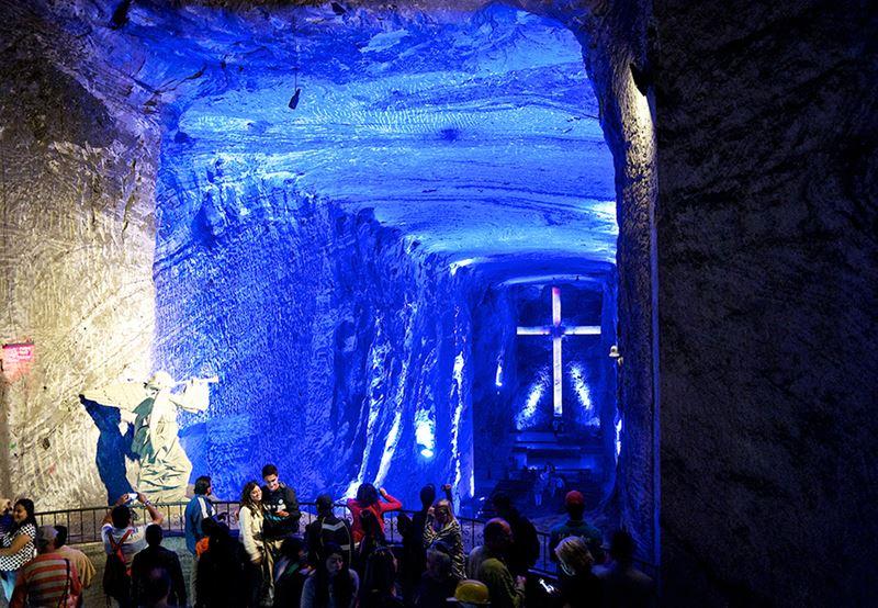 A Candelara de sal, um dos pontos turísticos da Colômbia