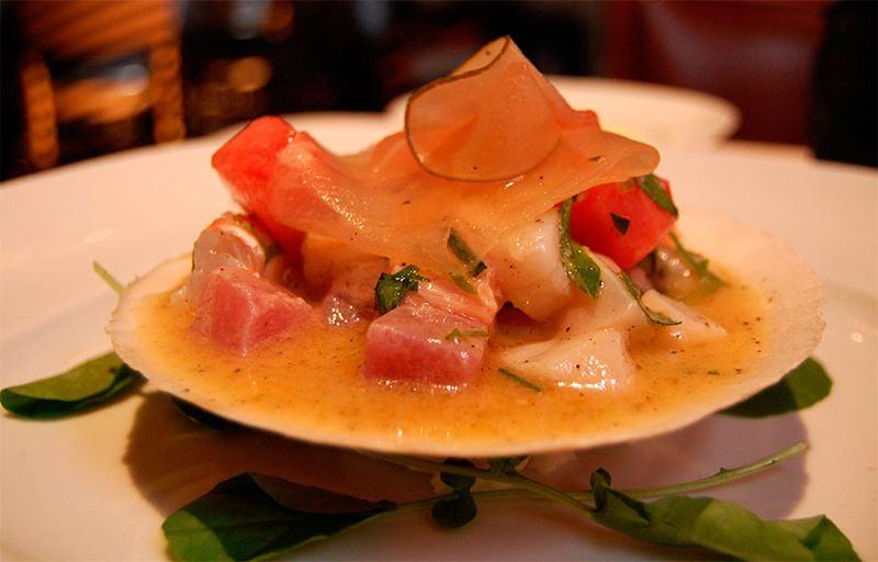 A excepcional gastronomia peruana, o famoso ceviche