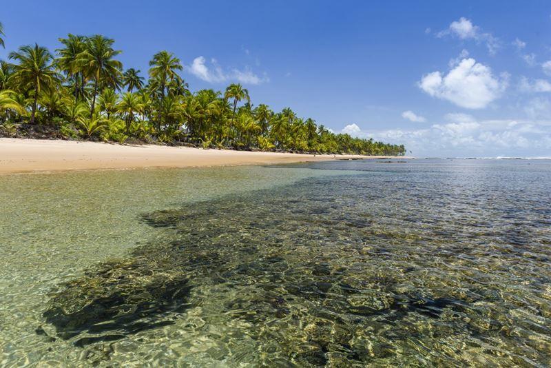 Península de Marau, onde viajar em Março no Brasil