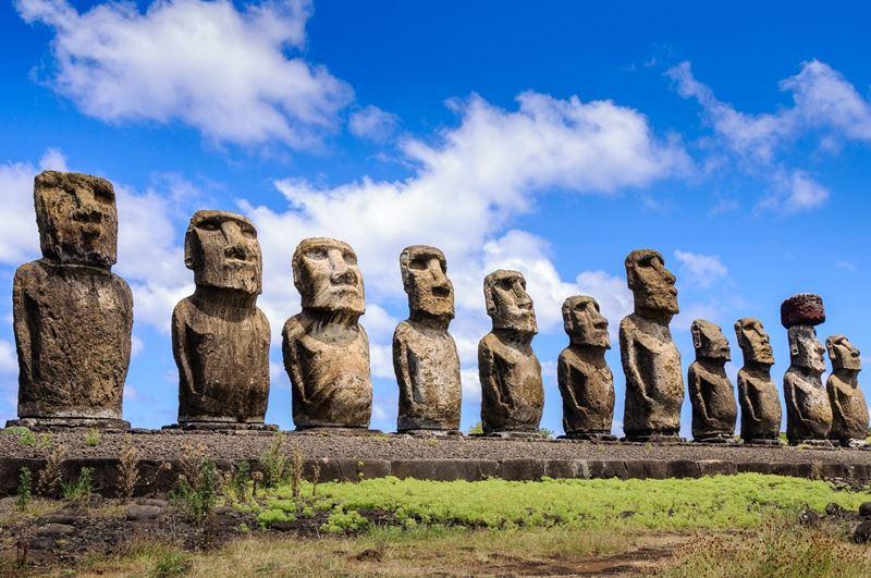 Ilha de Páscoa no Chile, uma das magnificas ilhas para comemorar a lua de mel