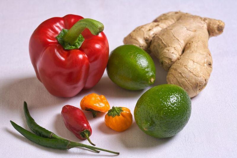 Ingredientes do maravilhoso Ceviche