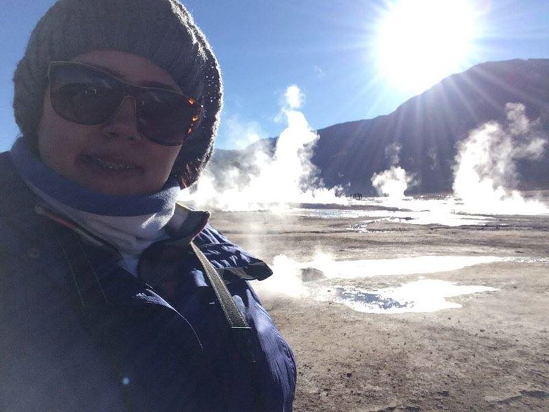 Geyseres Del Tatio, um dos lugares onde Thalita Pereira a analista da Adventure Club viajou