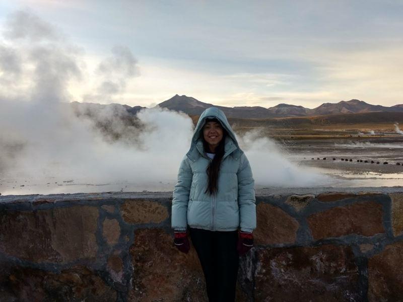 Geysers del Tatio no Deserto do Atacama, um dos lugares que a redatora da Adventure Club, Thais Lelli visitou