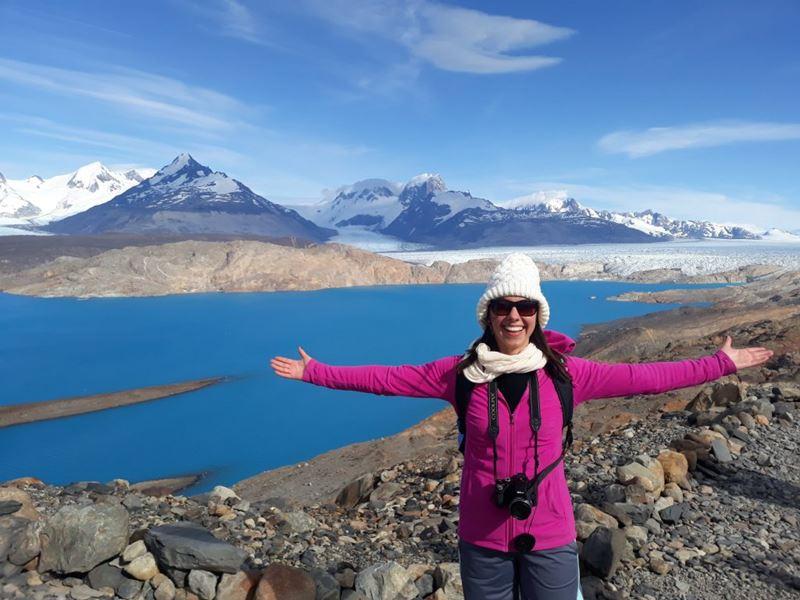 Glaciar Upsala em Calafate, um dos lugares onde a analista de produtos nacionais da Adventure Club Mariana Andrade conheceu