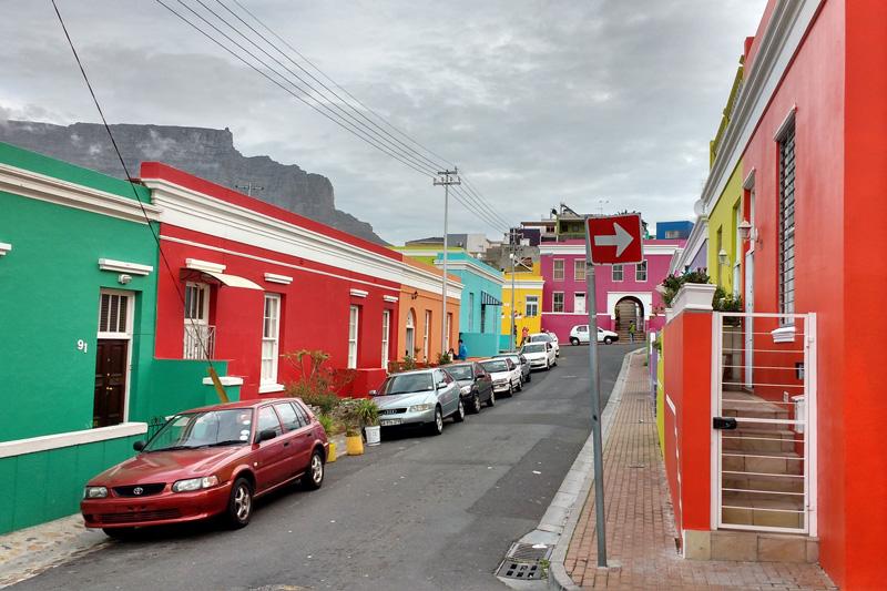 Bairro Bo-Kaap na África do Sul