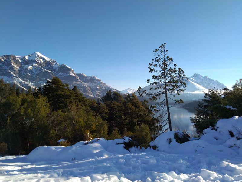 Bariloche na Argentina, um dos lugares onde mais neva