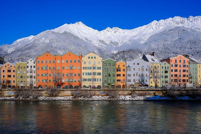 Innsbruck na Áustria, um dos lugares que mais neva