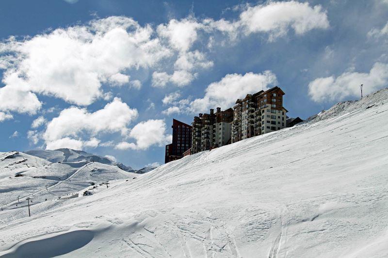 Valle Nevado no Chile, um dos lugares onde mais neva