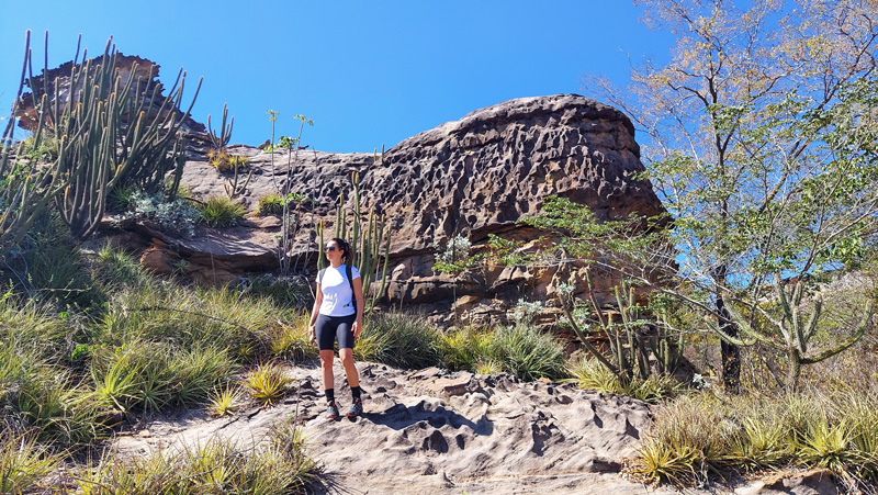 Eliane Leite na Serra da Capivara - Grupo Exclusivo Adventure Club
